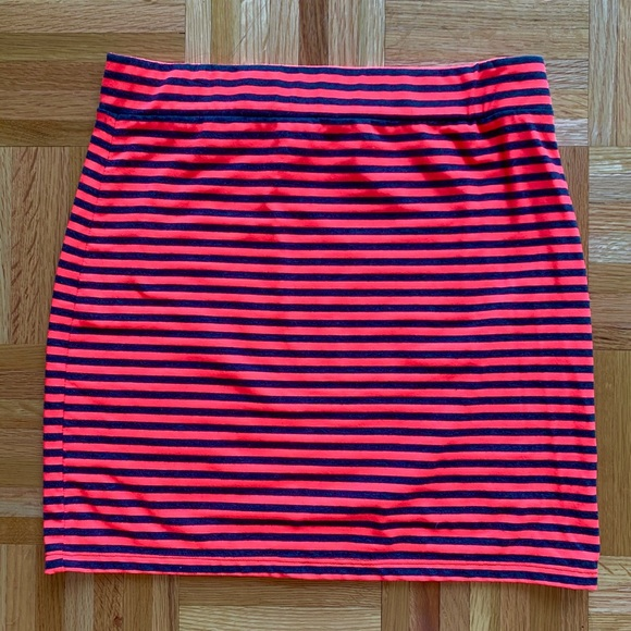 Divided Neon Elastic Stretch Summer Skirt Small